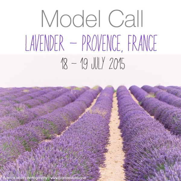 Couple Model Call for Provence Photo Session