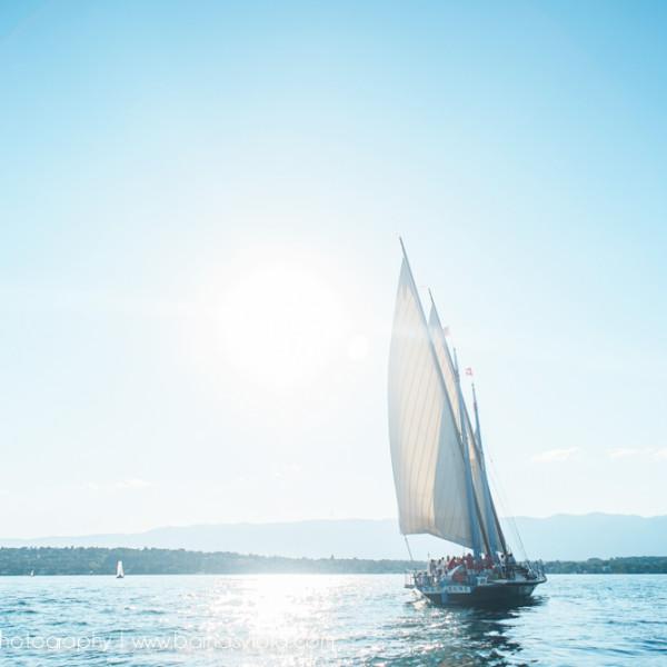 Corporate Event Photographer Geneva, Switzerland at Jet d'eau with Boat Cruise in Lake Geneva