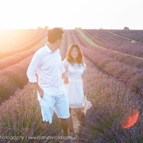 Engagement Photographer Geneva, Switzerland in Provance, France for Lavender Fields