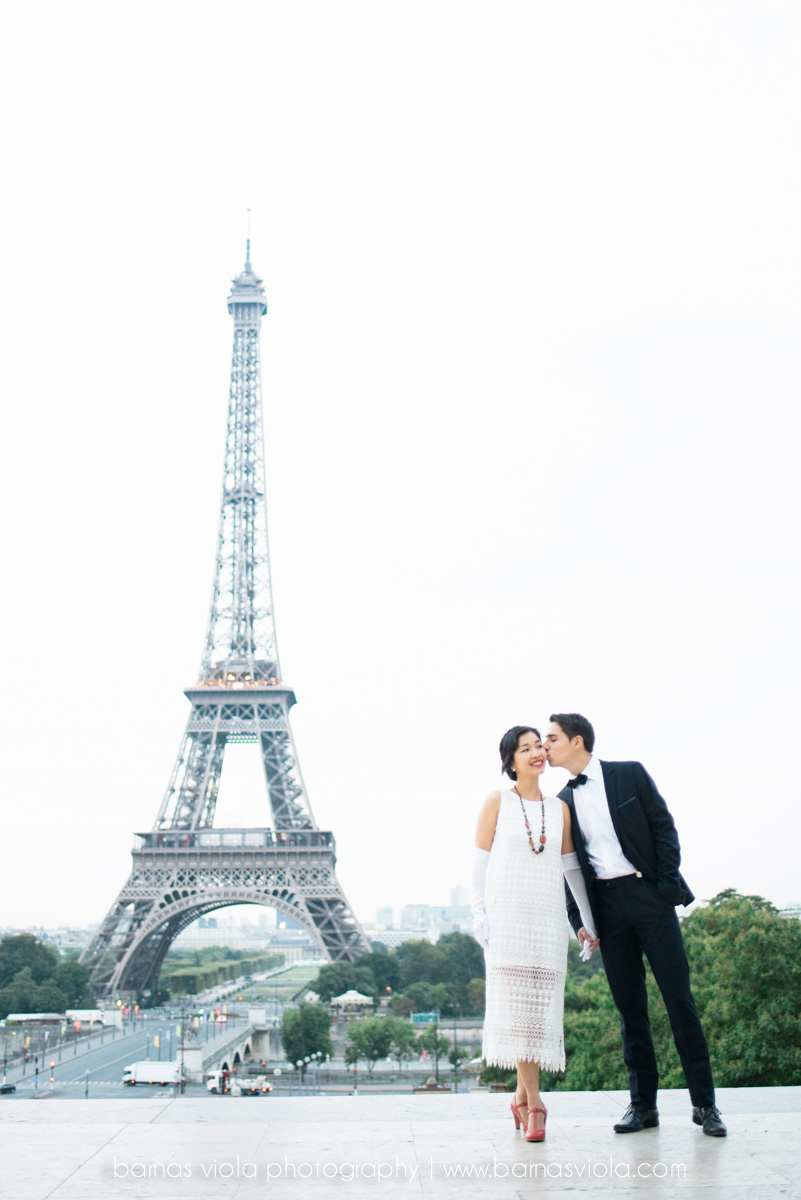 bride at eiffel tower paris wedding engagement photography
