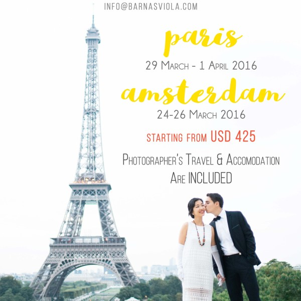 Paris and Amsterdam Engagement Photography